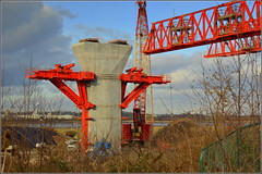 Mersey Gateway Project (Southern Approach Viaduct P15,Runcorn) 4th February 2017 (Cassini2008) Tags: merseygatewayproject bridgeconstruction runcorn wiggisland