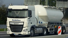 D - Felleiter DAF XF 106 SC (BonsaiTruck) Tags: ffb feldbinder felleiter daf xf 106 sc lkw lastwagen lastzug silozug truck trucks lorry lorries camion silo bulk citerne powdertank