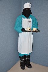 Warm clothed slave Maid / Waitress (Buses,Trains and Fetish) Tags: winter girl women warm waitress niqab maid slave burka chador