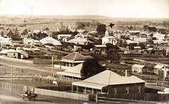 Taree, New South Wales - 1907 (Aussie~mobs) Tags: taree australia vintage newsouthwales 1907 township view house streets aussiemobs