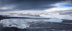 Jökulsárlón Beach (dieLeuchtturms) Tags: winter sea panorama ice beach strand island iceland meer europa europe glacier gletscher eis jökulsárlón sander atlantik austurland breiðamerkursandur 7x3 21x9 235x100