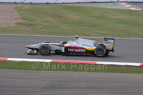 Rio Haryanto in GP2 Qualifying at the 2015 British Grand Prix
