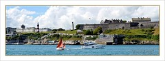 Passing Traffic (Paul.Y-D) Tags: sea sun boats harbour citadel ships mountbatten plymouthhoe warmemorials smeatonstower