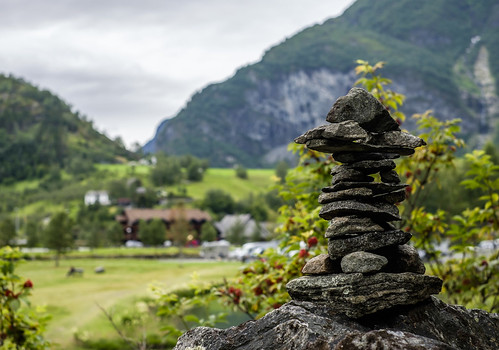 A cairn in Flåm, Norway