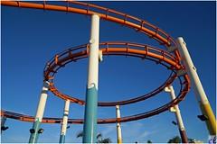 Santa Monica Pier, Roller Coaster (Eric Lassiter) Tags: losangeles santamonica rollercoaster santamonicapier santamonicarollercoaster californiapiers