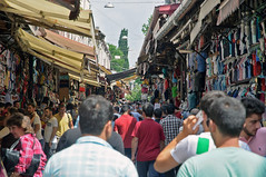Shopping (caribb) Tags: street city summer vacation people urban retail turkey shopping trkiye transport markets istanbul goods stores crowds stalls shoppers marmara sellers constantinople 2015 merket lygos