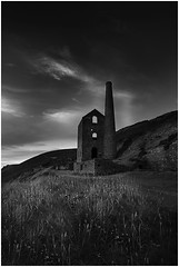 Wheal Coates (mrcheeky2009) Tags: sky blackandwhite abandoned monochrome clouds landscape ruins cornwall fineart cliffs coastline enginehouse whealcoates