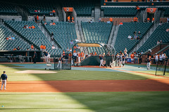 Batting practice ( (Jason Lin)) Tags: nikon baseball stadium baltimore tigers d750 practice batting camdenyards 2015 70200mmf4g