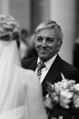 happy days (dieter_turk) Tags: street wedding boy england urban white man black london church girl monochrome face rural groom bride britain father daughter documentary marriage human marry