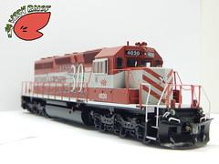 Custom Models Wisconsin & Southern SD40-2 #4030 / 1 (Twigy BNSF) Tags: scale wisconsin models southern ho custom emd sd402 wsor rtr athearn