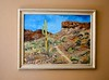 The Sonoran Desert (Busy Packing-Sorry 4 Not Commenting!) Tags: odc paintpainting mine sonorandesert saguaro arms hills skyt dry path rocks pricklypear plants jozimny artist professional tall cactus