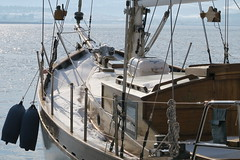 Snow on board ... (Κώστας Καϊσίδης) Tags: snow volos greece port sailingboat sea seascape