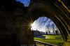The arch of Knaresborough Castle (JoshuaSYChang) Tags: backlight sun door knaresborough castle heritage building sky architecture outdoor nikon tokina d7000 travel