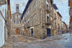 la seu d'urgell (Antonio-González) Tags: laseudurgell lleida lerida cataluña españa angovi catedral rpmanico pirineos calle