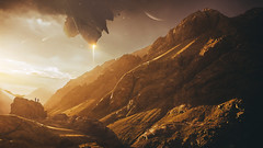 Extraction (Wladimir_J) Tags: sun sunset sunlight sundown sunflare sunshine sunrise light lights art fineart surreal mountain mountains landscape landscapes dreamscapes clouds cloudscape cloud orange red colours sky