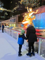 Everett & Mommy Skating At Rockefeller Center (Joe Shlabotnik) Tags: iceskating december2016 sue skating manhattan rockefellercenter proudparents prometheus newyorkcity 2016 nyc everett 60225mm