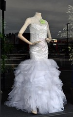 Four weddings (stephen trinder) Tags: stephentrinder stephentrinderphotography christchurch christchurchnewzealand bride wedding dresses secondhand used old salvationarmy charity opshop bargains white pretty stylish bridal marriage tradition special window display shop woolston reflections sales frock
