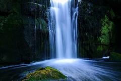 Jesmond Dene Waterfall (Hawk 3663) Tags: colour water river landscape waterfall rocks stream outdoor cascade jesmonddene