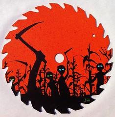 Children of the Corn Saw Blade by John R. Pleak 2015 (johnr.pleak) Tags: painting saw corn cornfield acrylic farming horror monsters stephenking acrylics sawblade horrorfilms famousmonsters horrorfilm fangoria 2015 childrenofthecorn scenicpainting 80shorror horrorart monsterart johnrpleak johnpleak