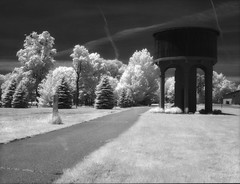 Ravenna Water Tower, Efke IR820 infrared film (Bronica John) Tags: wood tower film water mi kodak michigan watertower rail d76 trail filter bronica infrared epson effect ravenna railtrail efke 89b etrsi v500 infraredfilm kodakd76 woodeffect ir820 efkeir820 ravennamichigan film:iso=100 89bfilter developer:brand=kodak developer:name=kodakd76 film:brand=adoxefke film:name=adoxefkeir820100 adoxefkeir820100 ravennami filmdev:recipe=10168