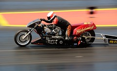 Funny bike (Fast an' Bulbous) Tags: santa summer england hot bike june race speed drag pod nikon track power gimp fast sunny motorbike strip motorcycle panning nationals motorsport qualifying acceleration d7100