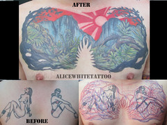 Will.chest (alice white) Tags: tattoo scenery treetattoo suntattoo colortattoo coveruptattoo naturetattoo jungletattoo mountaintattoo scenetattoo