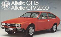Alfa Romeo Alfetta GT and Alfetta GTV brochure 05-1976 (sjoerd.wijsman) Tags: auto cars car voiture alfa romeo vehicle brochure alfaromeo 1976 fahrzeug alfetta folleto prospekt carbrochure opuscolo brochura alfaromeoalfetta broschyr autobrochure alfaalfetta 051976