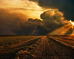 End of a summer day (Katarina 2353) Tags: light sunset summer sky orange cloud fall film field landscape photography photo shadows image outdoor dramatic explore katarinastefanovic katarina2353 serbiainspired