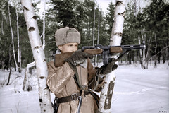 Soviet soldier with PPD-40 (Za Rodinu) Tags: world 2 man men history vintage soldier war gun russia military rifle rifles front german weapon ww2 soldiers historical guns 1942 1945 rare troops 1944 1943