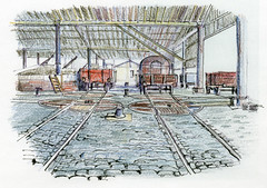 Liverpool docks goods shed in colour