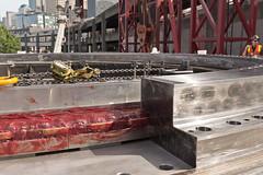 Installing Bertha's new main bearing (WSDOT) Tags: seattle construction machine gp repairs bertha 2015 tunneling reassembly wsdot alaskanwayviaductreplacement sr99tunnel