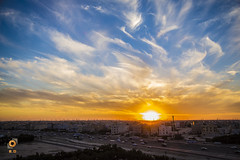 Horizon (H.D. Foto) Tags: city sunset sun clouds landscape skies horizon kuwait fintas