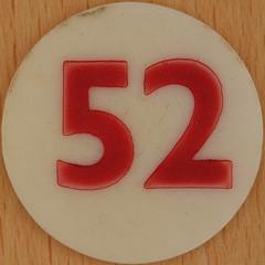 Bingo Number 52 (Leo Reynolds) Tags: xleol30x squaredcircle number numberbingo xsquarex bingo lotto loto houseyhousey housey housie housiehousie numberset 52 sqset120 50s canon eos 40d xx2015xx xxtensxx sqset