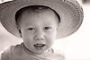 Little Farmer (bryzf1) Tags: summer portrait bw cowboy cowboyhat bwportrait hotsummer blackandwhiteportrait littlecowboy
