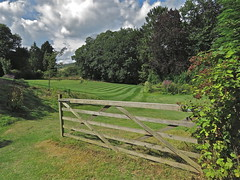 Garden Gate (Deepgreen2009) Tags: home sunshine wooden gate lawn mown