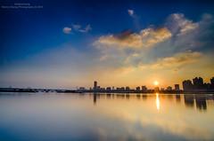 -  (Hen) Tags: city light sunset summer sky cloud night river nikon afternoon taiwan tokina  taipei