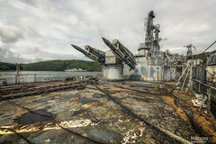 The guardian of the bay... (Maestro-Photography) Tags: cruise abandoned canon ruins war ship cross decay military exploring places ruine forgotten urbanexploration 5d rocket missile rockets cruiser deserted hdr decayed colbert urbex mk3 mark3 verval militair ghostships verlaten leegstaand 5dmk3 c611 5dmark3