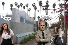 Leah Rumbles the Lawman (marknpm1) Tags: leah remini scientology aftermath shelly miscavige missingpersons report lapd lee baca corruption bribery faulty investigation shoop satire spoof mark pm marknpm1 marksshoops alleyway
