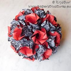 Poppies on the Rock  (K16033) (Origami Spirals) Tags: curler twirl spiral fold paper burczyk origami folding art krysbur