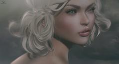 Laura Ann~Cloudy Day (Skip Staheli CLOSED FOR CLIENTS) Tags: skipstaheli secondlife sl avatar virtualworld dreamy digitalpainting lauraannrossini portrait closeup