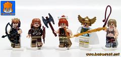 AMAZONES (baronsat) Tags: lego amazones riders dinoriders custom minifigs castle conan heroic fantasy sword sorcery dinosaur