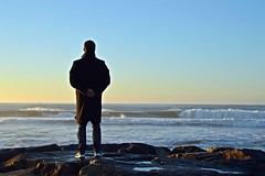 DSC_4091 (mrsdyvz) Tags: sun portugal aveiro nikon d3200 sundown portrait model beach sand sea ocean water waves glasses rock silhouttes horizon harmony sky blue clouds costa nova praia