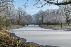 Rijp in Leiderdorp (18/01/17) (Patrick Herzberg) Tags: landschap leiderdorp nederland tamron winter bomen d5200 houtkamp nikon park rijp wit