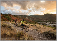 Sunset On 2016 (Photo-John) Tags: happynewyear mtb bike cycling sports action outdoor outdoors sunset clouds sky fall foliage parkcity utah autumn mountainbike mountainbiking mountainbikers cloudporn trail canon eos 7d 7dmarkii 7dmkii editorialphotography stockphotography stockphoto