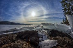 Halo (Kari Siren) Tags: halo ice spring lake karijärvi jaala finland