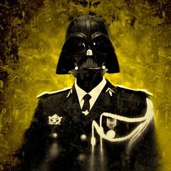 Yellow (davidbenezech) Tags: masque cérémonie gendarmerie gendarme darkvador starwars autoportrait portrait