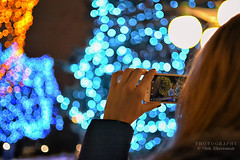 Ottawa Luminosity (Oleh Khavroniuk (Khavronyuk)) Tags: canada ottawa ontario luminosity lights colours bokeh bokehlicious blur dof depthoffield iphone nikon nikkor 35mm blue night art light winter hiver christmas digital picture photography photo photoart outdoor project365 streetphotography party rainbow world geotagged