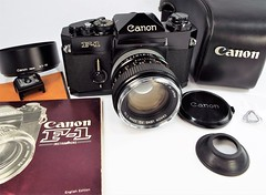 1972 Canon F-1 with FD 50mm f/1.4 lens (www.yashicasailorboy.com) Tags: fujifilm finepix s9900 canon f1 35mm camera classic 1972 lens case booklet cap photogear collectible