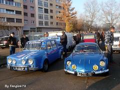 Renault R8 Gordini et Berlinette A110 (fangio678) Tags: retrorencard meinau strasbourg 04 12 2016 renault r8 berlinette a110 french francaise voiture voituresanciennes ancienne collection cars classic coche oldtimer youngtimer