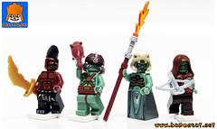 ORCS PRIEST (baronsat) Tags: lego orcs custom minifigs castle conan heroic fantasy sword sorcery priest